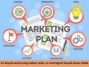 kế hoạch marketing online mẫu